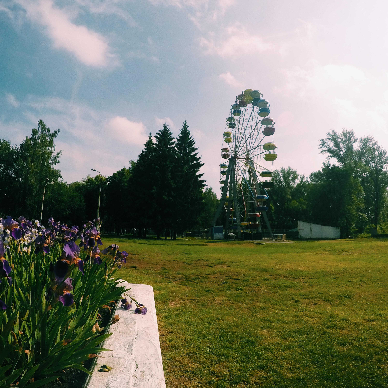 Колесо обозрения в парке имени Кожедуба в городе Сумы