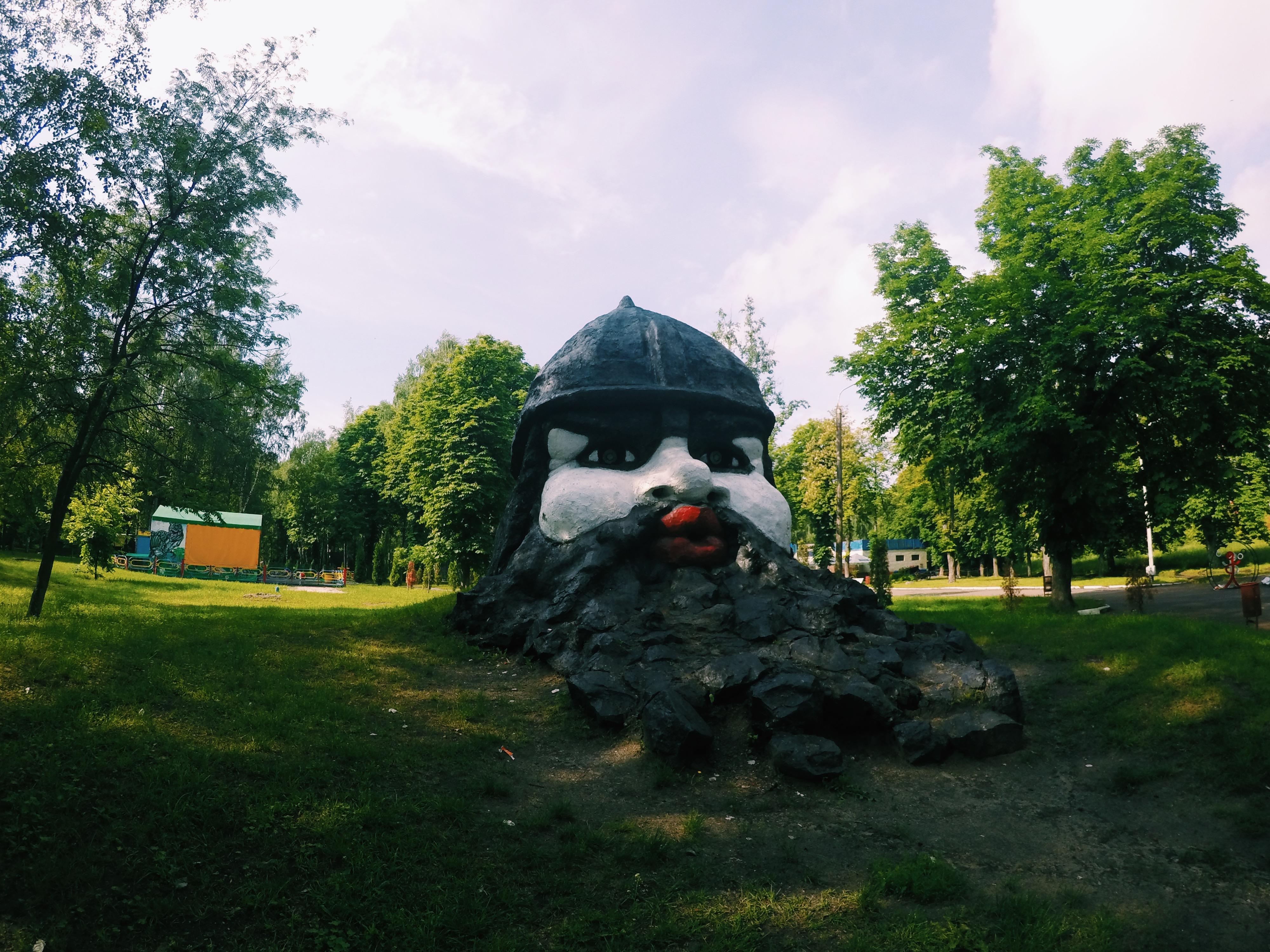 Бородач в парке имени Кожедуба в городе Сумы